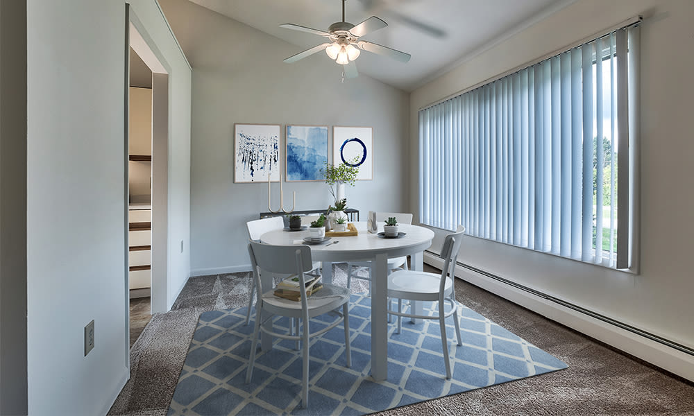 Beautiful dining area at Emerald Springs Apartments in Painted Post, New York