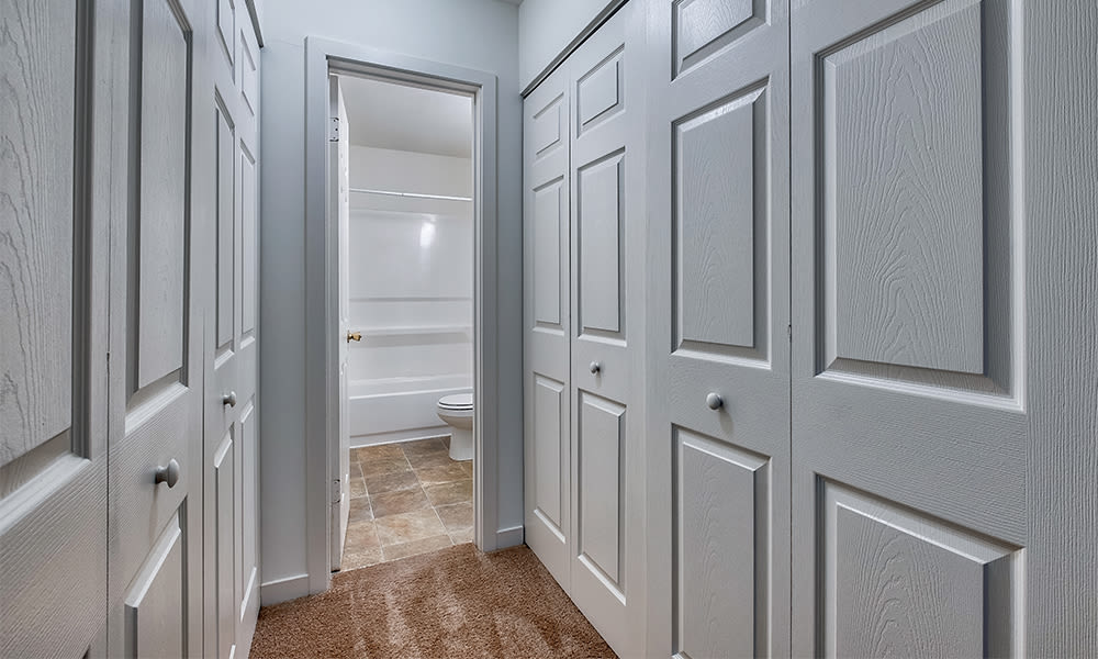 Closet space at Emerald Springs Apartments in Painted Post, New York