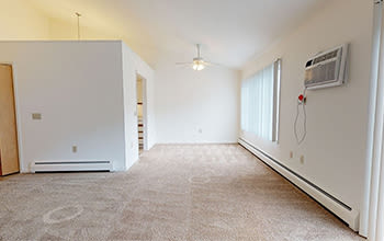 Virtual tour of a two bedroom apartment at Emerald Springs Apartments in Painted Post, New York