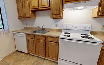 Virtual tour of a 2 bedroom apartment at Emerald Springs Apartments in Painted Post, New York