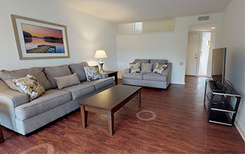 Virtual tour of a three bedroom apartment at Emerald Springs Apartments in Painted Post, New York