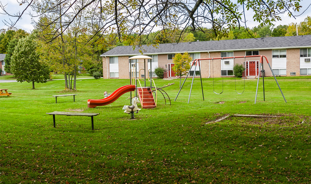 Playground at Glenbrook Manor in Rochester, New York