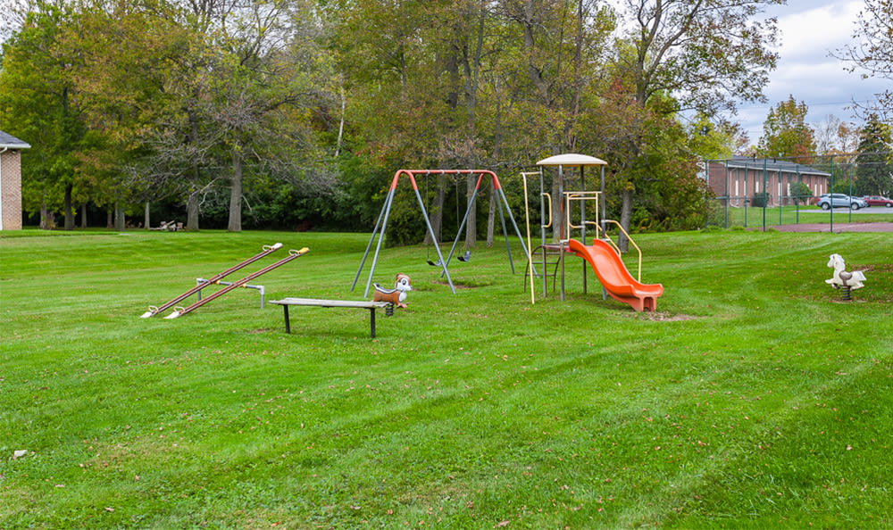 Glenbrook Manor offers a playground in Rochester, New York