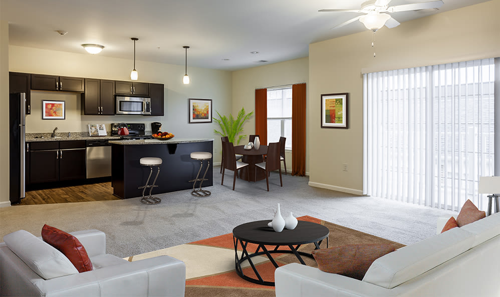 Spacious floor plans at Ethan Pointe Apartments home in Rochester, New York