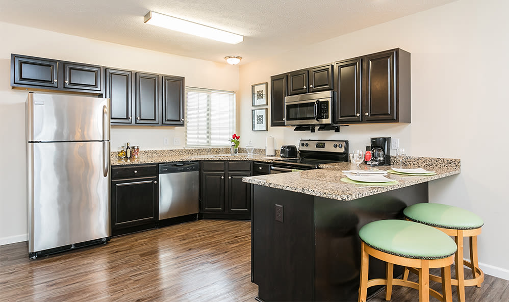 Enjoy our modern kitchen at Auburn Creek Apartments in Victor, New York
