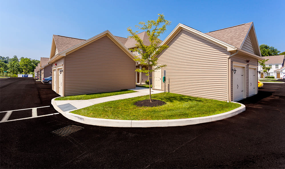 Exterior of our apartments at Auburn Creek Apartments in Victor, New York