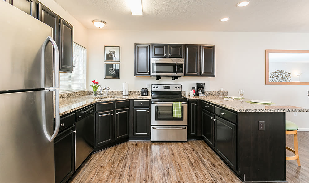 Luxury kitchen at Auburn Creek Apartments in Victor, New York