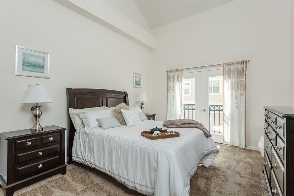 Spacious bedroom  at Gateway Landing on the Canal in Rochester, New York