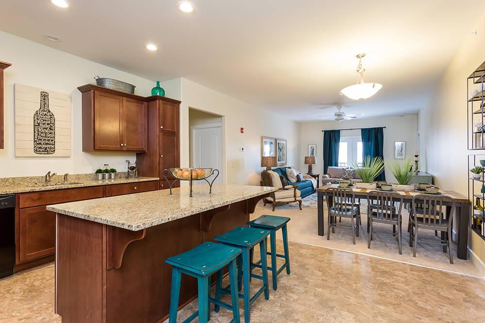 Spacious floor plan at Gateway Landing on the Canal in Rochester, New York