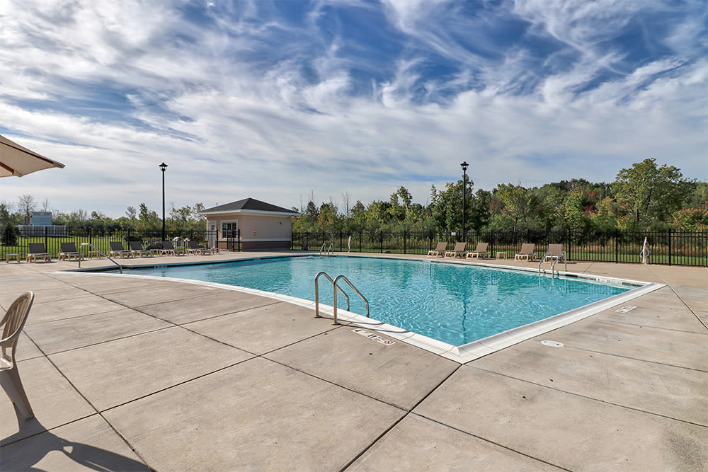 Swimming pool at Gateway Landing on the Canal in Rochester, New York