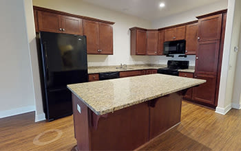 Virtual tour of a one bedroom apartment at Gateway Landing on the Canal in Rochester, New York
