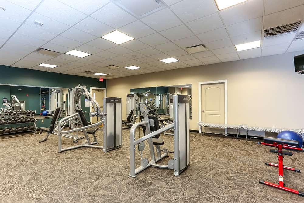 Fitness center at Gateway Landing on the Canal in Rochester, New York
