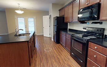 Virtual tour of a two bedroom apartment at Gateway Landing on the Canal in Rochester, New York