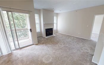 Virtual tour of a two bedroom apartment at Highlands of Montour Run in Coraopolis, Pennsylvania