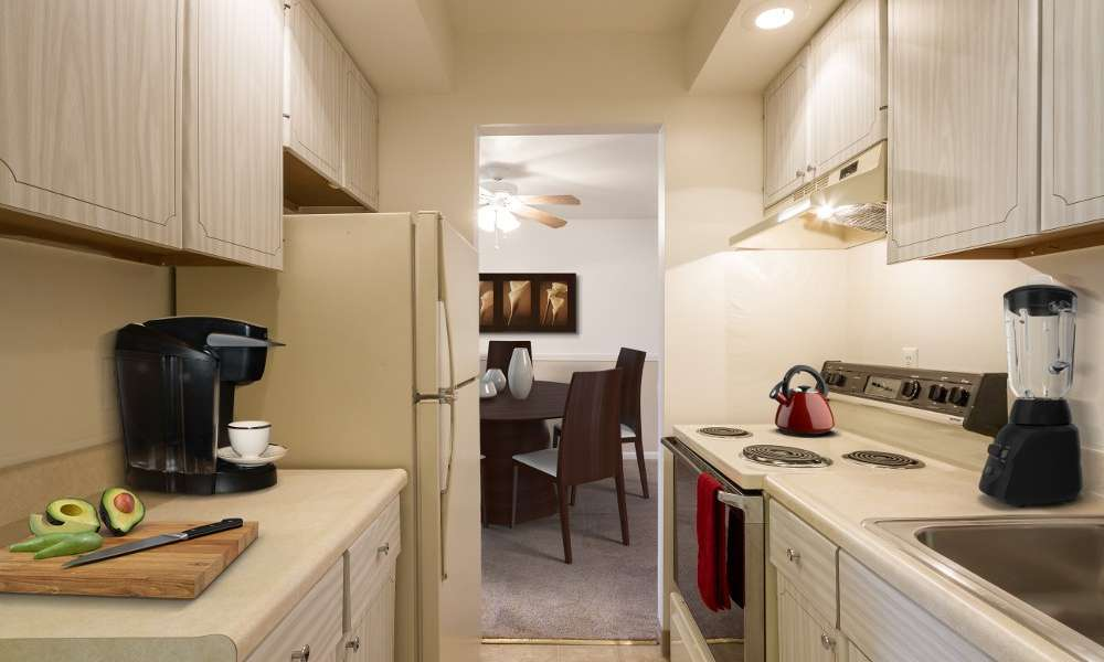 Bright ,well-equipped kitchen at Imperial North Apartments in Rochester, New York