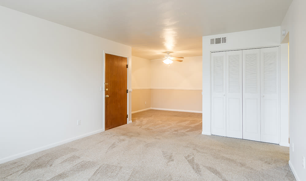Open floor plan space at Imperial North Apartments home in Rochester, New York