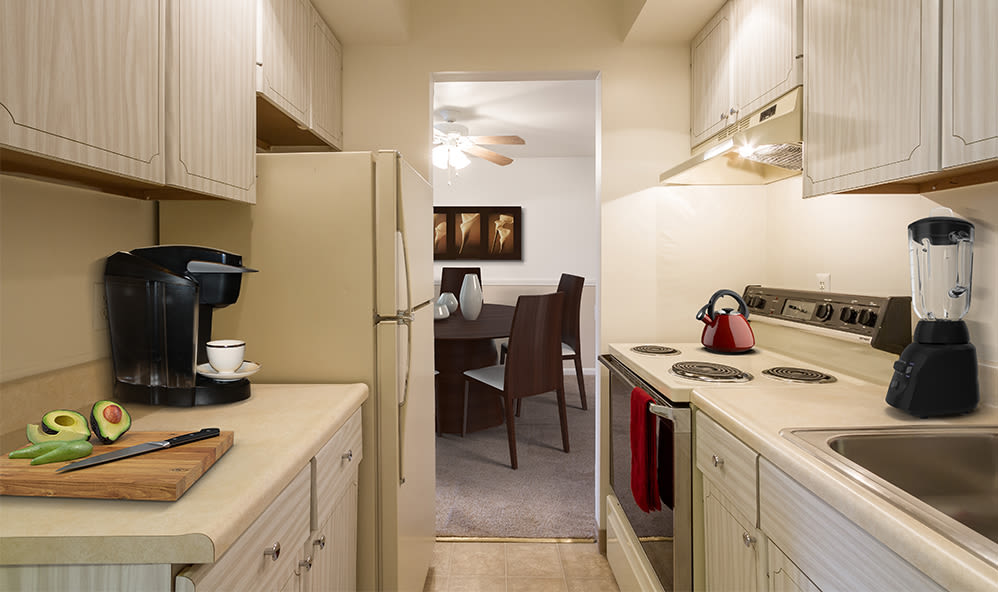 Imperial North Apartments offers a beautiful kitchen at Imperial North Apartments home in Rochester, New York