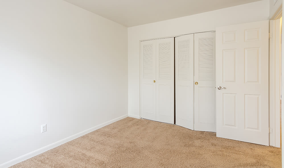 Closet in bedroom at Imperial North Apartments home in Rochester, New York