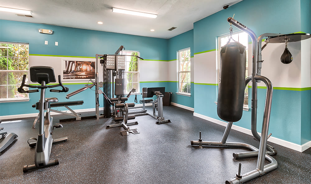 Spacious fitness center at Main Street Apartments in Huntsville, Alabama