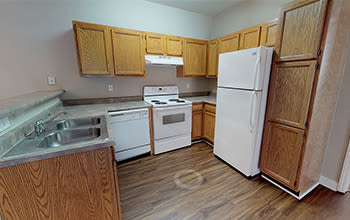 Virtual tour of a one bedroom apartment at Main Street Apartments in Huntsville, Alabama