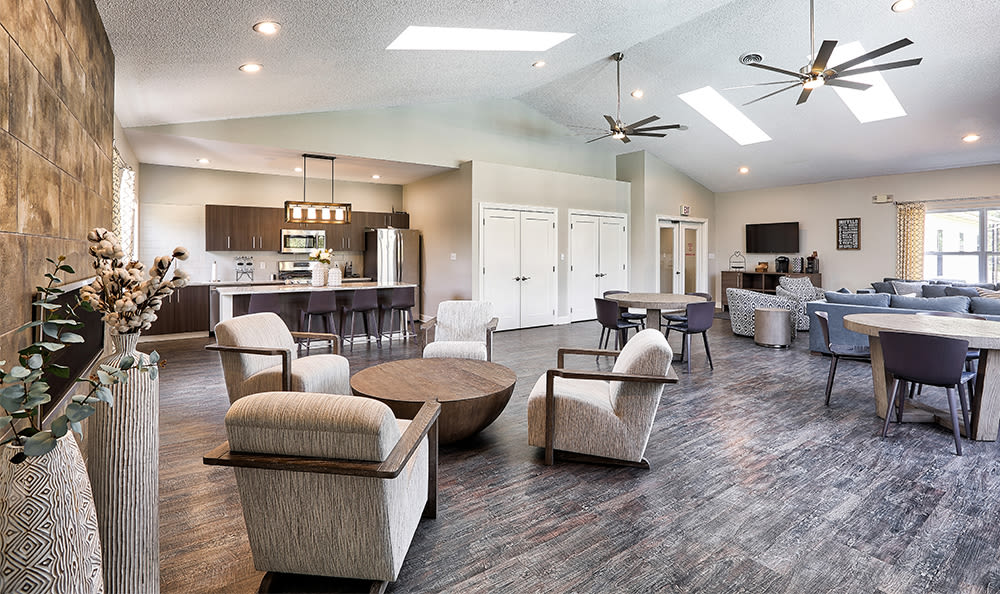 Community Center Kitchen and Lounge at Maplewood Estates Apartments in Hamburg, New York