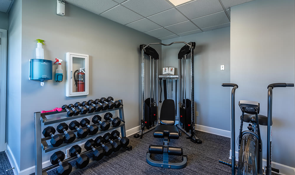 Community Center Exercise Room at Maplewood Estates Apartments in Hamburg, New York