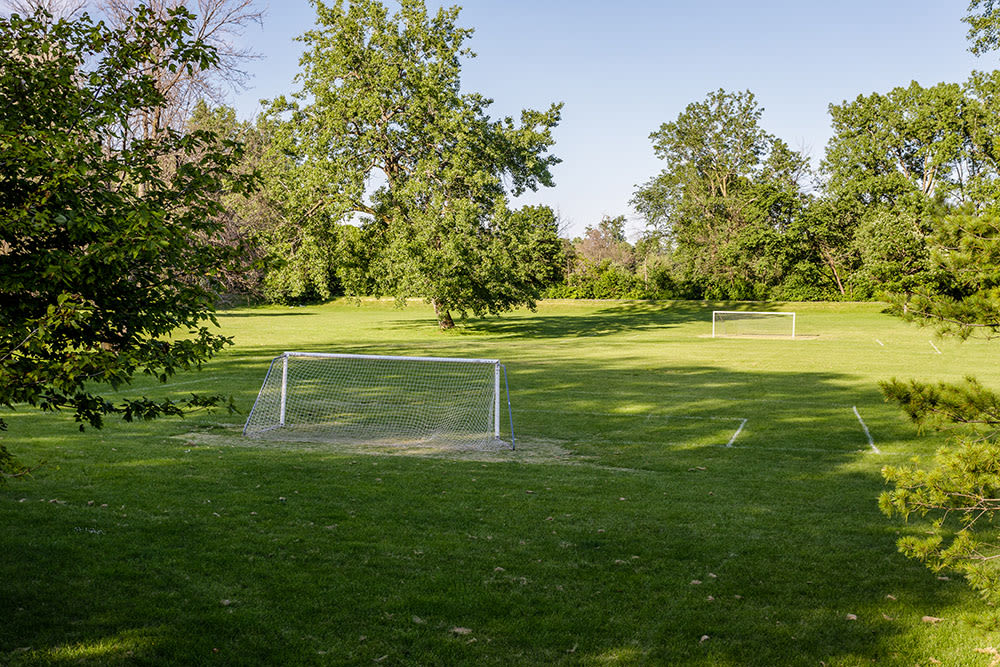 Soccer field near Park Place Townhomes in Buffalo, New York