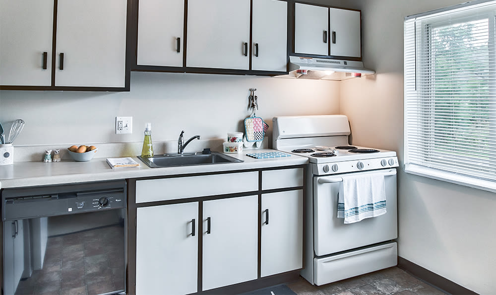 Fully-equipped kitchen at Park Place of South Park in South Park, Pennsylvania