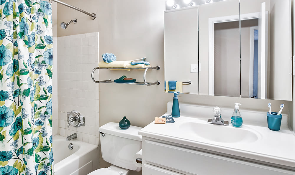 Bright bathroom at Park Place of South Park in South Park, Pennsylvania