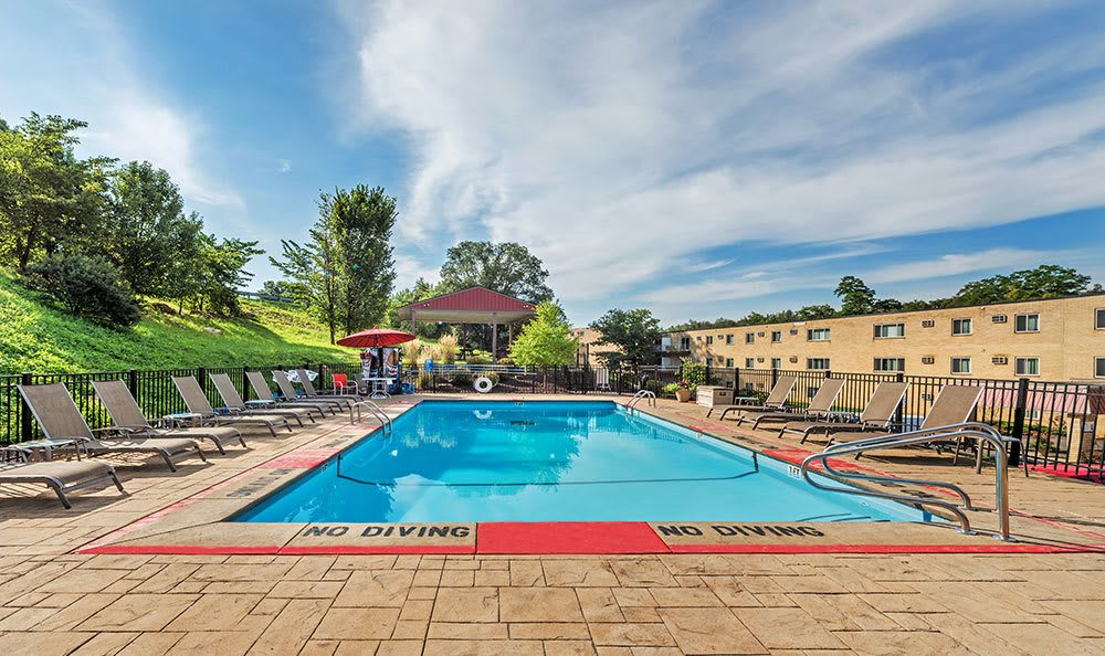 Sparkling swimming pool at Park Place of South Park in South Park, Pennsylvania