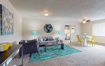 Virtual tour of a one bedroom apartment at Park Place of South Park in South Park, Pennsylvania