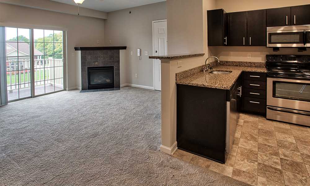 Open floor plan at Reserve at Southpointe in Canonsburg, Pennsylvania