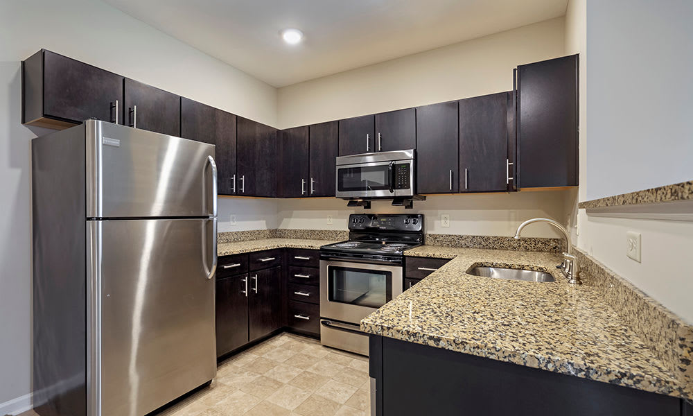 Beautiful bright kitchen at Reserve at Southpointe in Canonsburg, Pennsylvania