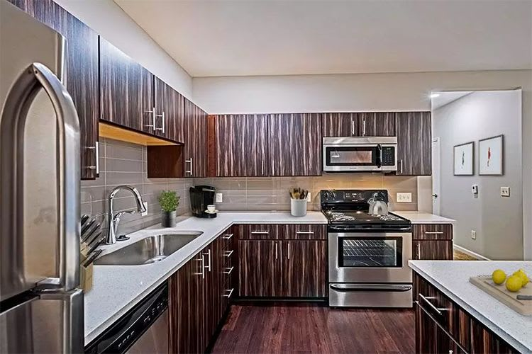 Beautiful modern kitchen at our Reserve at Southpointe community in Canonsburg, Pennsylvania