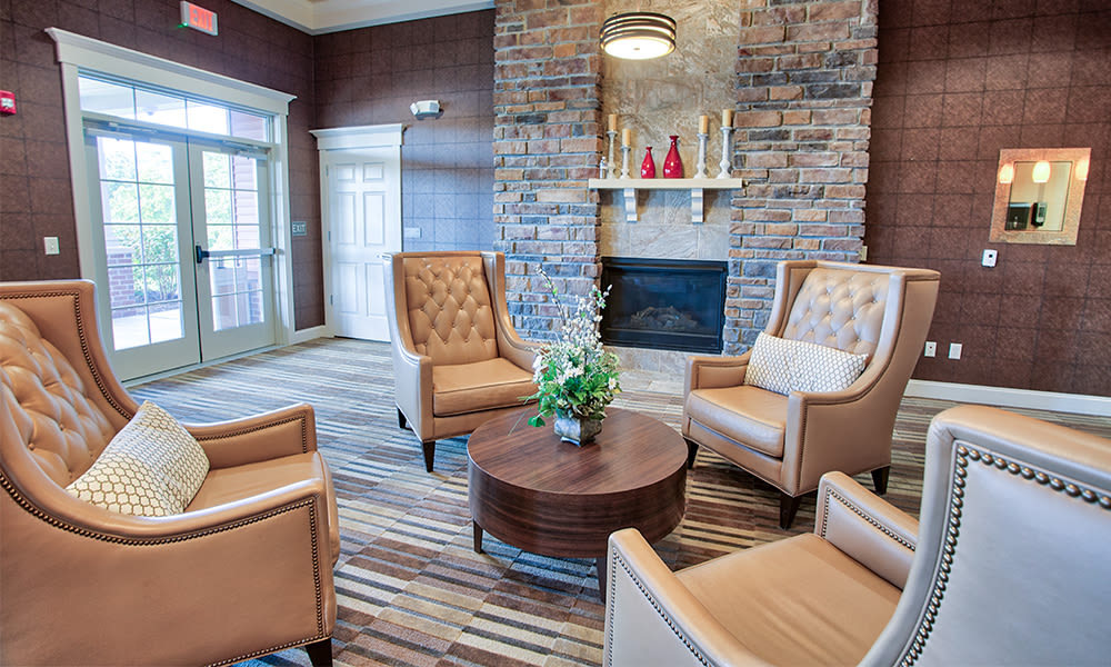 Luxury clubhouse at Reserve at Southpointe in Canonsburg, Pennsylvania