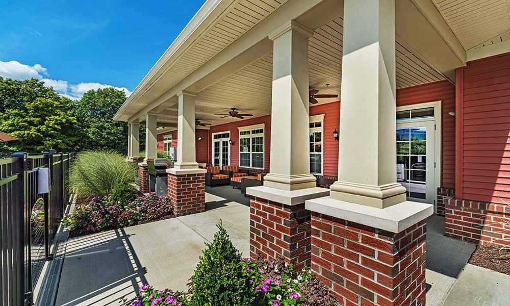Front entrance to Reserve at Southpointe in Canonsburg, Pennsylvania
