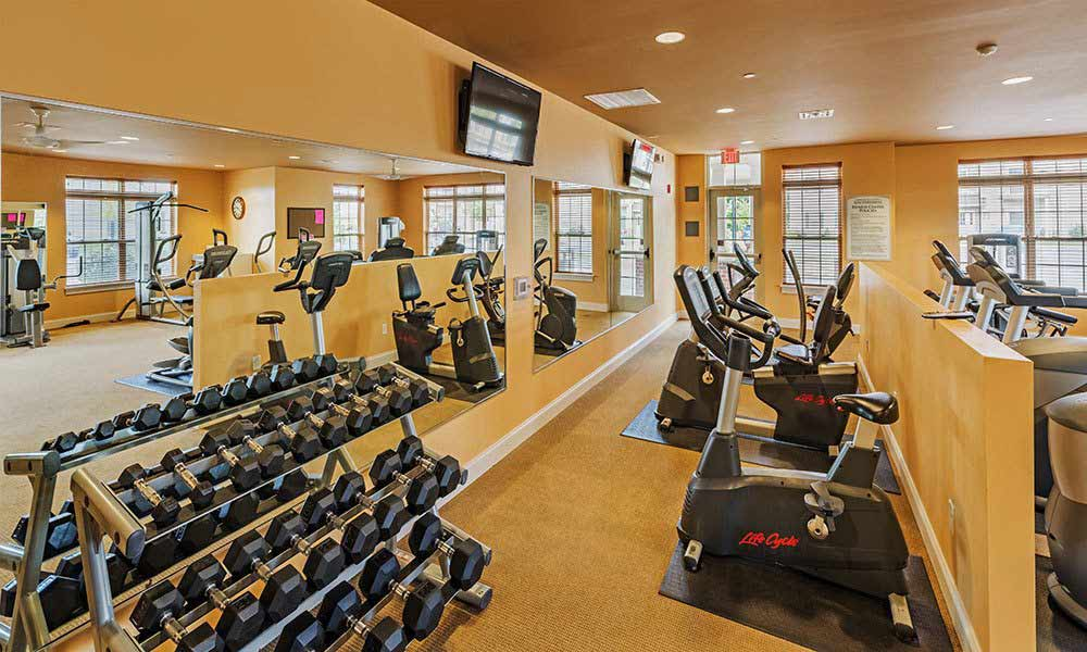 Fitness center at Reserve at Southpointe in Canonsburg, Pennsylvania