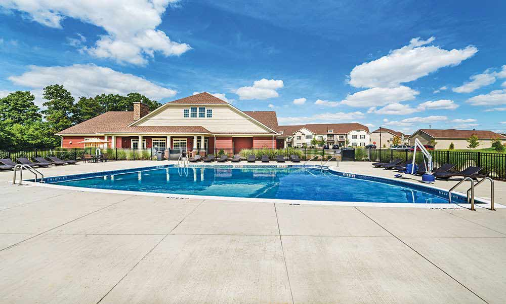 Refreshing swimming pool at Reserve at Southpointe in Canonsburg, Pennsylvania