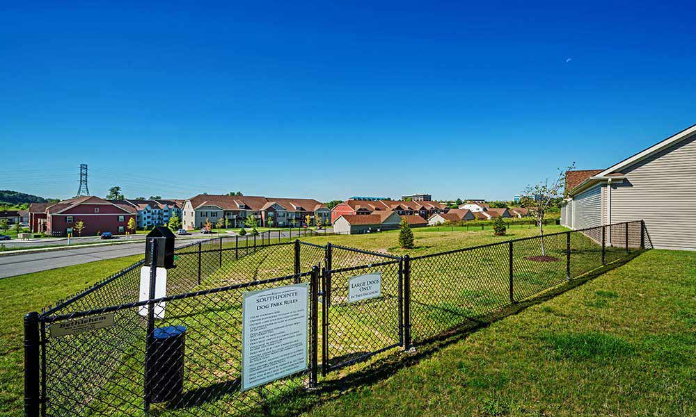 On-site dog park at Reserve at Southpointe in Canonsburg, Pennsylvania