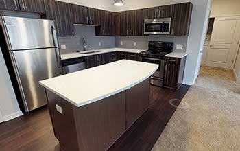 Virtual tour of a two bedroom apartment at Reserve at Southpointe in Canonsburg, Pennsylvania