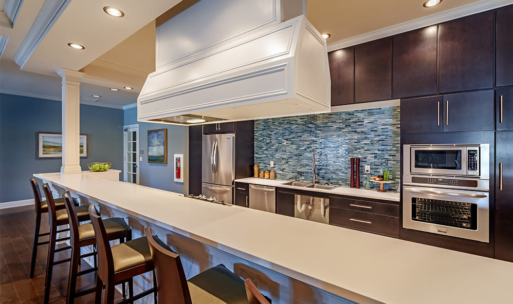 Modern clubhouse at Rochester Village Apartments at Park Place in Cranberry Township, Pennsylvania