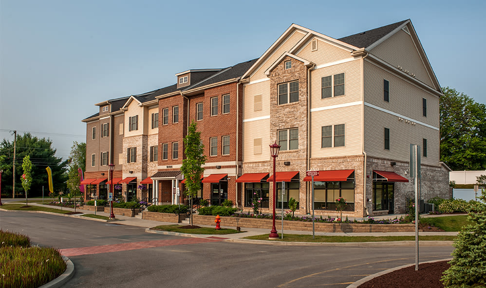 Exterior of Rochester Village Apartments at Park Place in Cranberry Township Pennsylvania