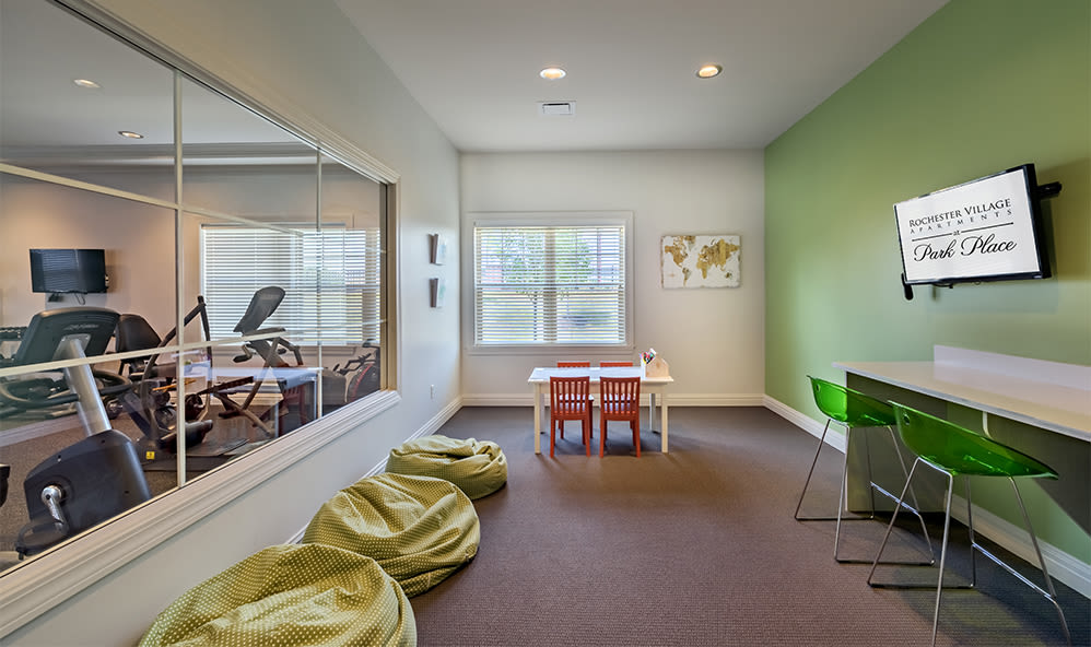 Kids area at Rochester Village Apartments at Park Place in Cranberry Township, Pennsylvania