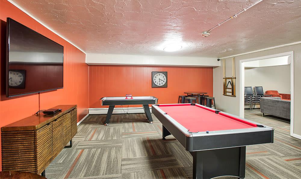Billiards at Solon Club Apartments in Oakwood Village, Ohio