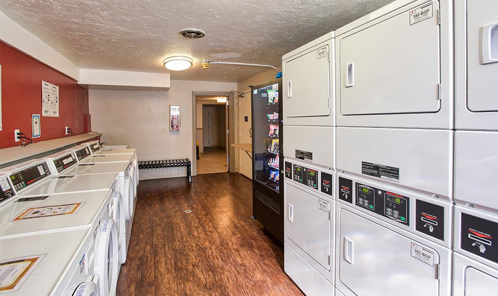 Laundry facility at Solon Club Apartments in Oakwood Village, Ohio