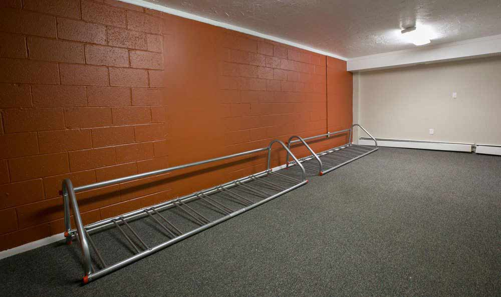 Bike racks at Solon Club Apartments in Oakwood Village, Ohio