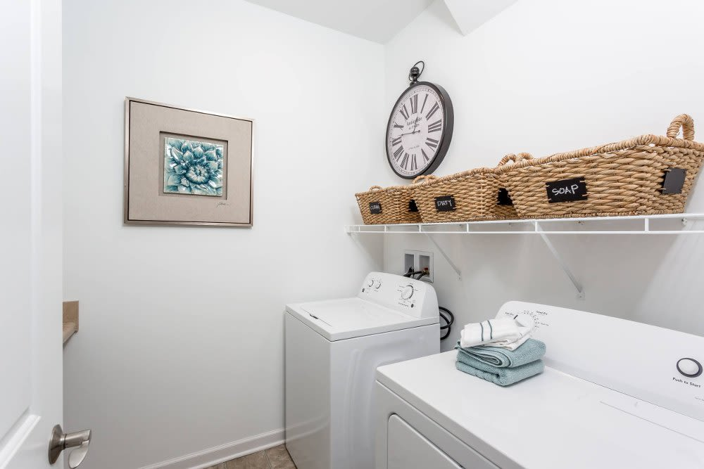 Washer and dryer at The Links at CenterPointe Townhomes home in Canandaigua, New York