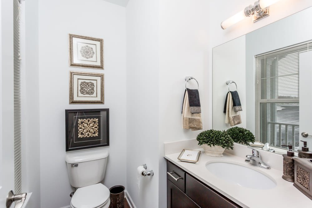 Spacious bathroom at The Links at CenterPointe Townhomes in Canandaigua, New York