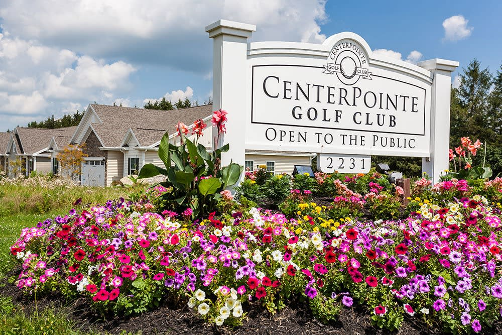 Signage at The Links at CenterPointe Townhomes in Canandaigua, New York