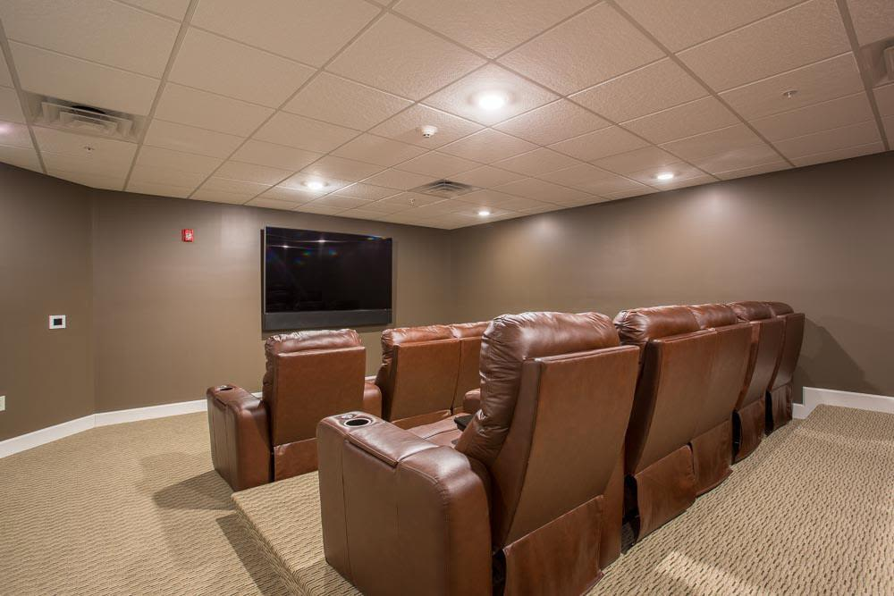Onsite theater room at The Marquis at the Woods in Webster, New York